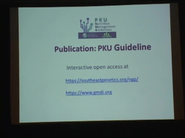 Guidelines and Recommendations for the Treatment of PKU