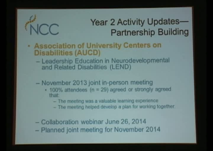 National Coordinating Center (NCC) Update