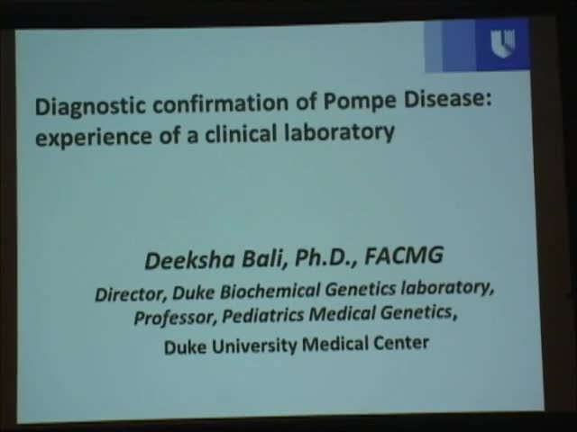 Diagnostic confirmation of Pompe Disease: experience of a clinical laboratory