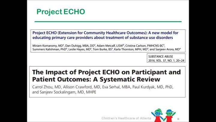 """Project ECHO: """"The democratization of medical knowledge"""""""