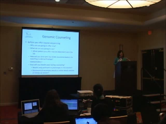 1700-1720 - Cathy Wicklund, MS, CGC - Consenting for Exome Sequencing - genomic counseling.2013